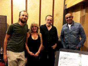 Andris Mattson, Dori Amarilio and John B. Williams with me in Dori's studio